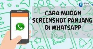 cara membuat screenshot panjang WA