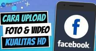 cara upload video di FB