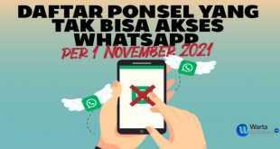 daftar ponsel tak support Whatsapp