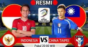 Live Streaming Timnas Indonesia vs China Taipei