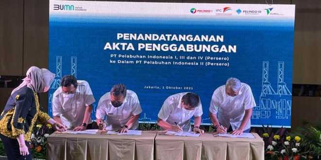 PT. Pelabuhan Indonesia I Sampai IV Resmi Merger Menjadi PT. Pelindo